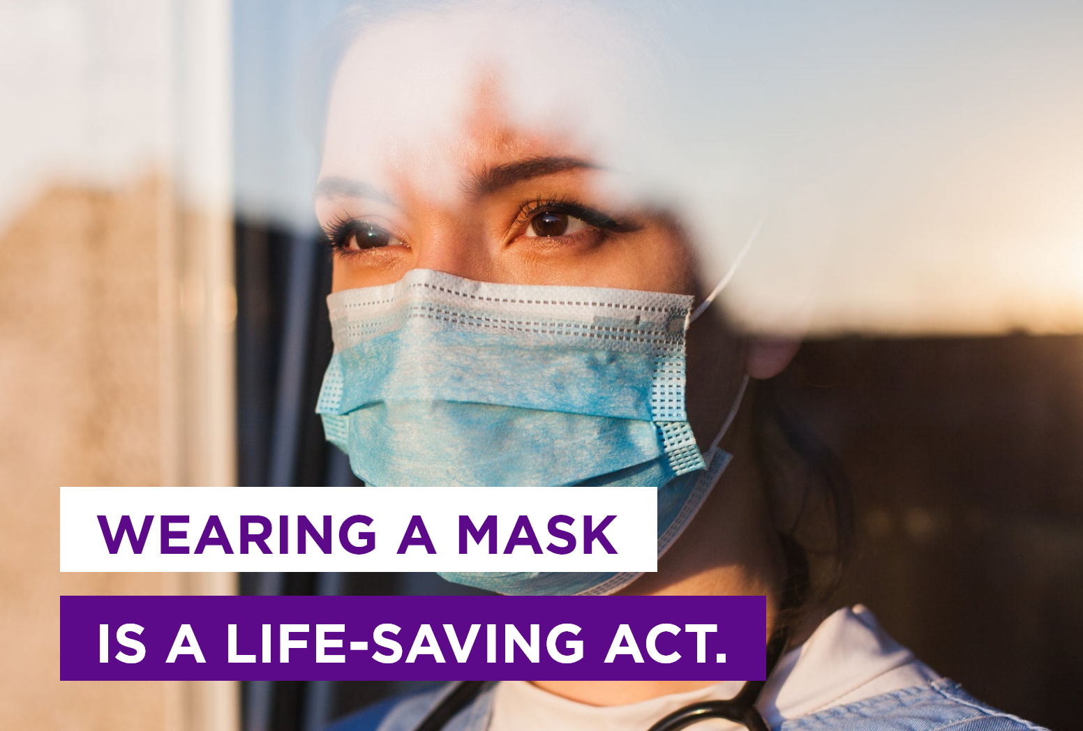 wearing a mask is a life saving act
