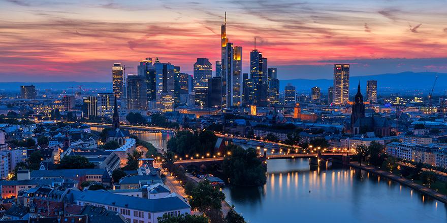 image of cityscape at dusk