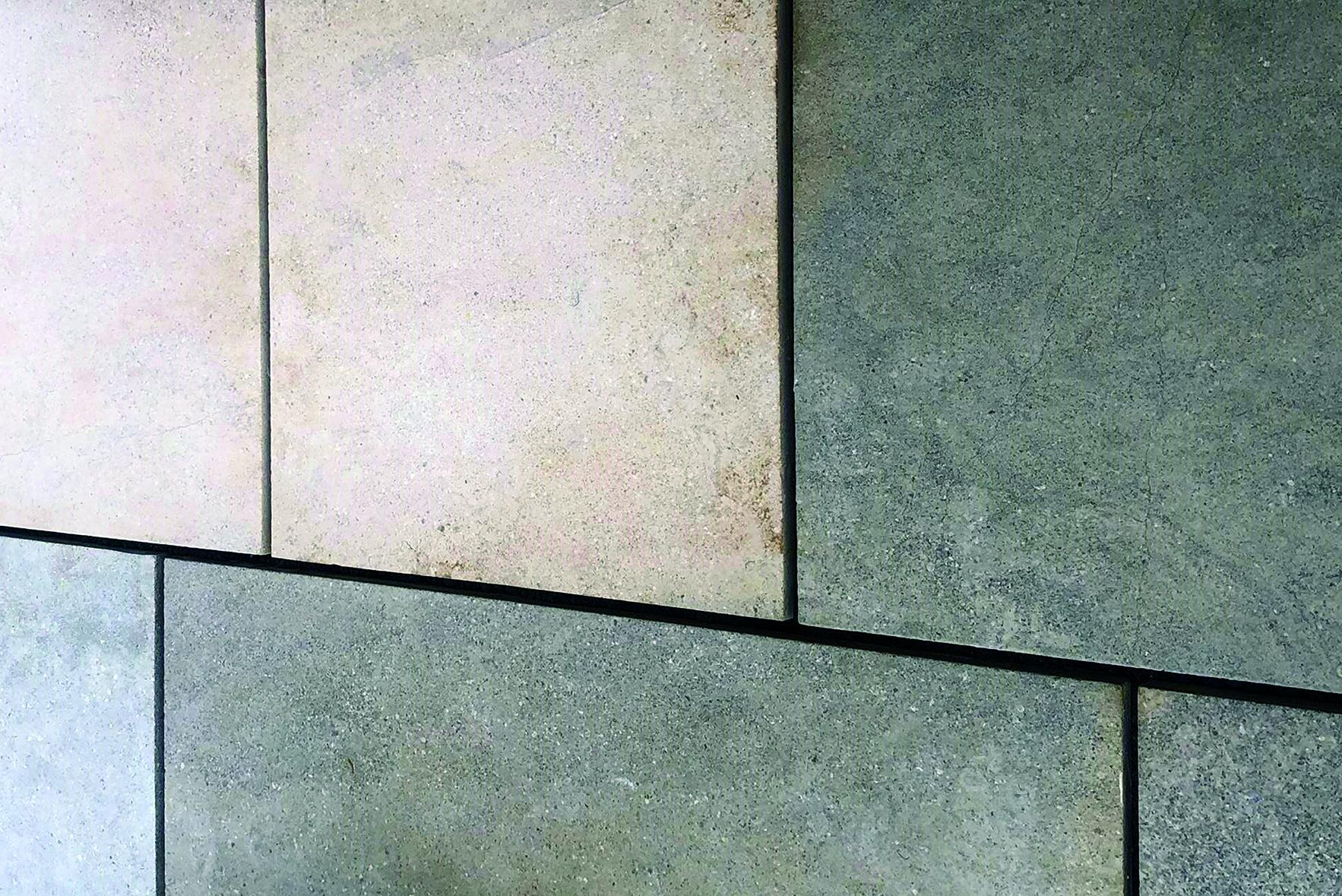 tan and grey stone tile closeup