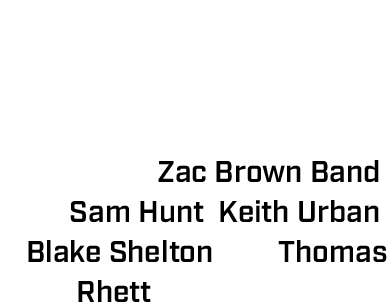 The Speedway has also hosted a concert the night before the 500, on Firestone Legends Day, with the likes of Zac Brown Band, Sam Hunt, Keith Urban, Blake Shelton and Thomas Rhett taking the stage.