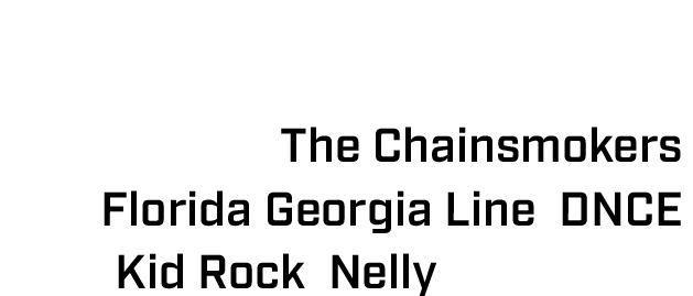 The NASCAR weekend at IMS has also featured iconic music acts such as The Chainsmokers, Florida Georgia Line, DNCE, Kid Rock, Nelly and others.