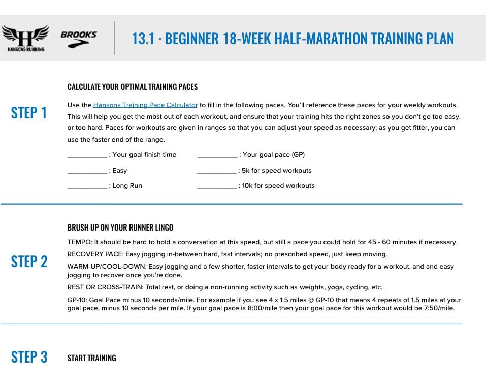 half marathon plan