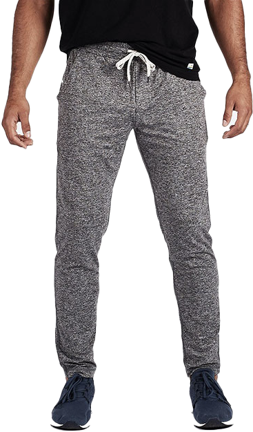 gray sweatpants on a male model