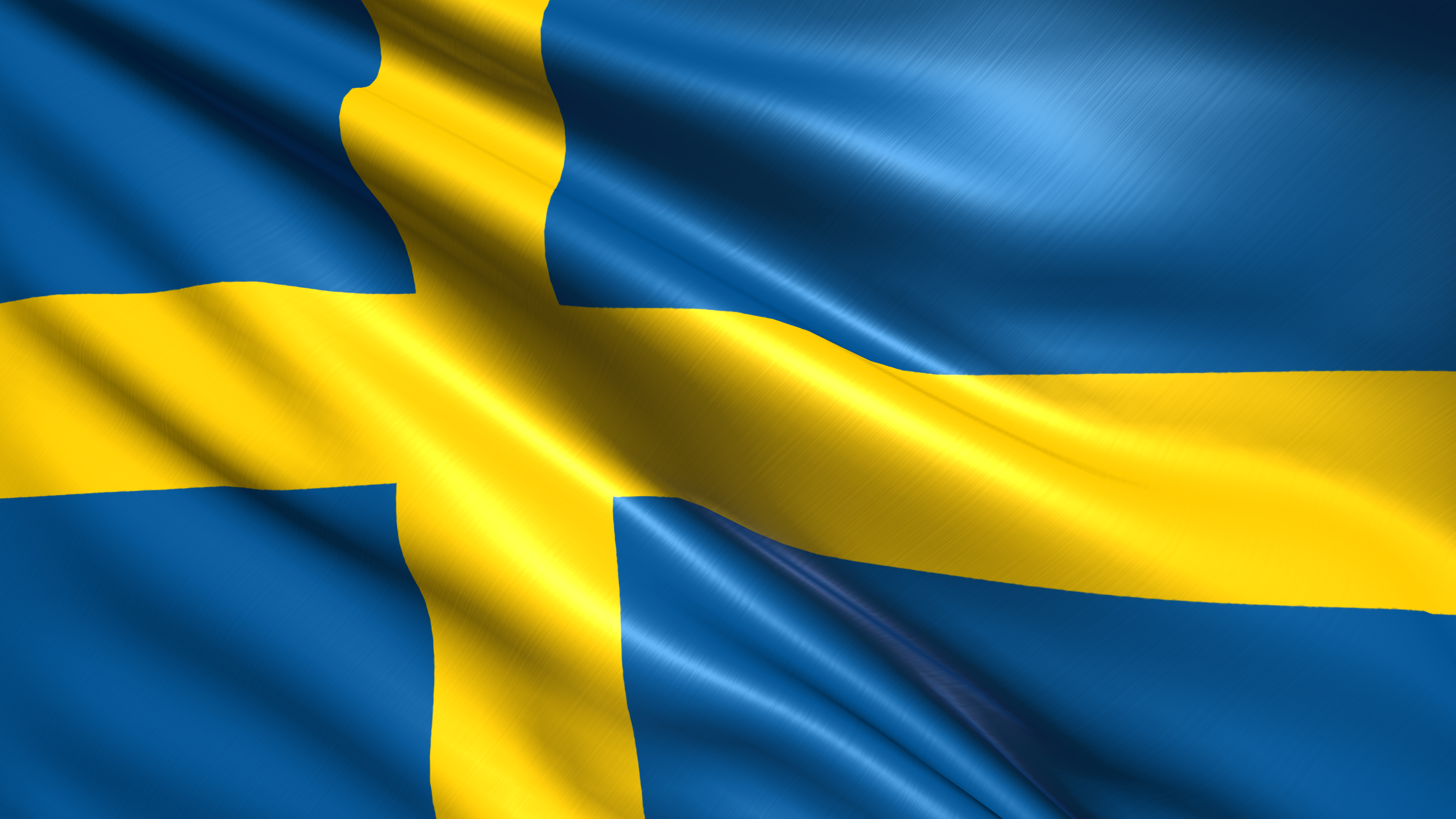 Swedish flag with fabric structure