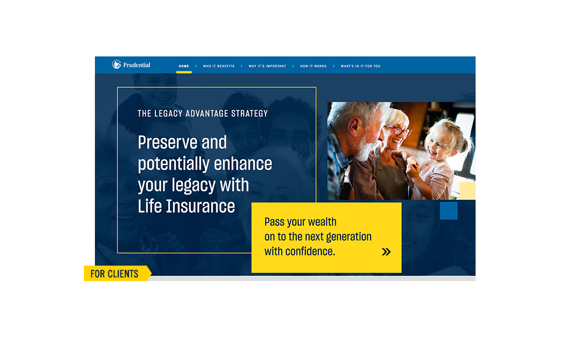 Thumbnail preview of 'Legacy Advantage' website. For Clients.