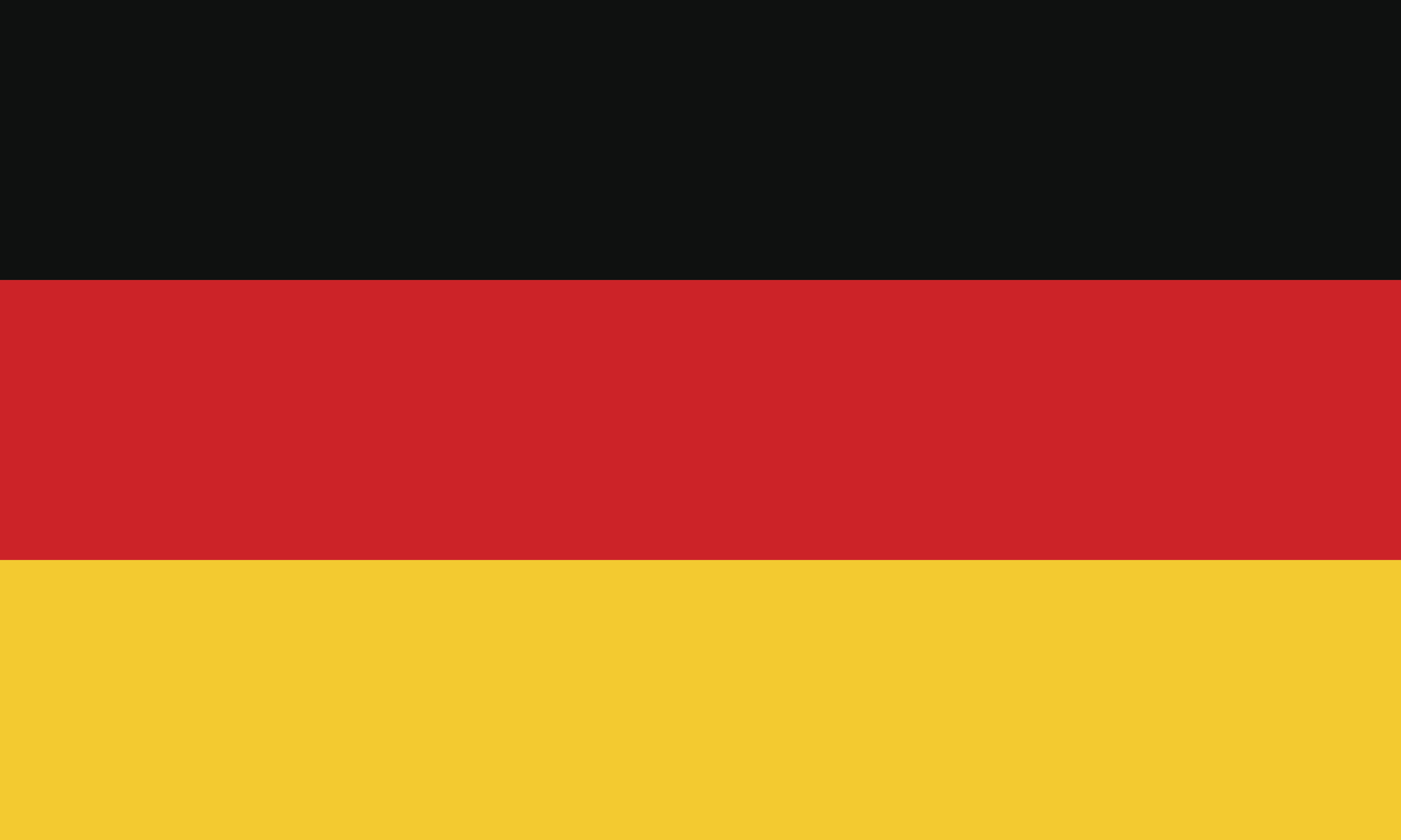 Flag design. German flag on the white background, isolated flat layout for your designs. Vector illustration.