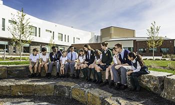 Students at Strathcona-Tweedsmuir school