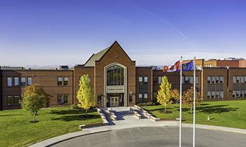 The front of Webber Academy school
