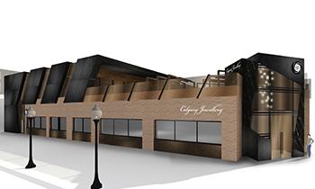 Rendering of the Calgary Jewellery buidling