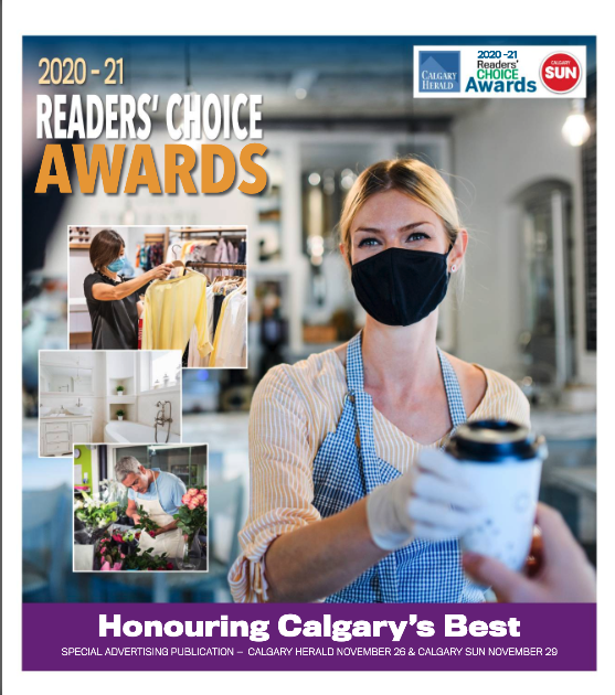 Front page of Readers' Choice Awards e-magazine