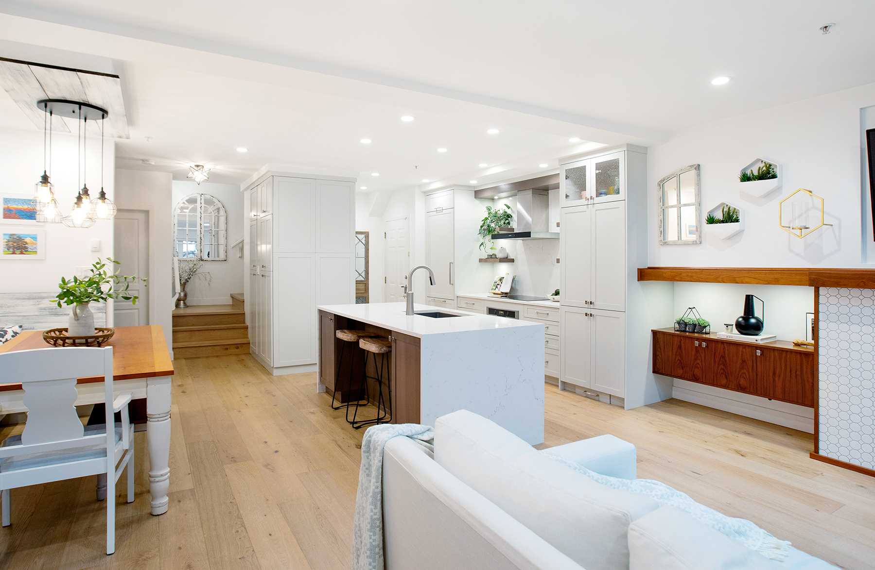 Bright and open luxury kitchen
