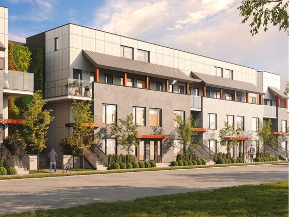 Outside front view of Pennyfarthing's latest Cambie Corridor project