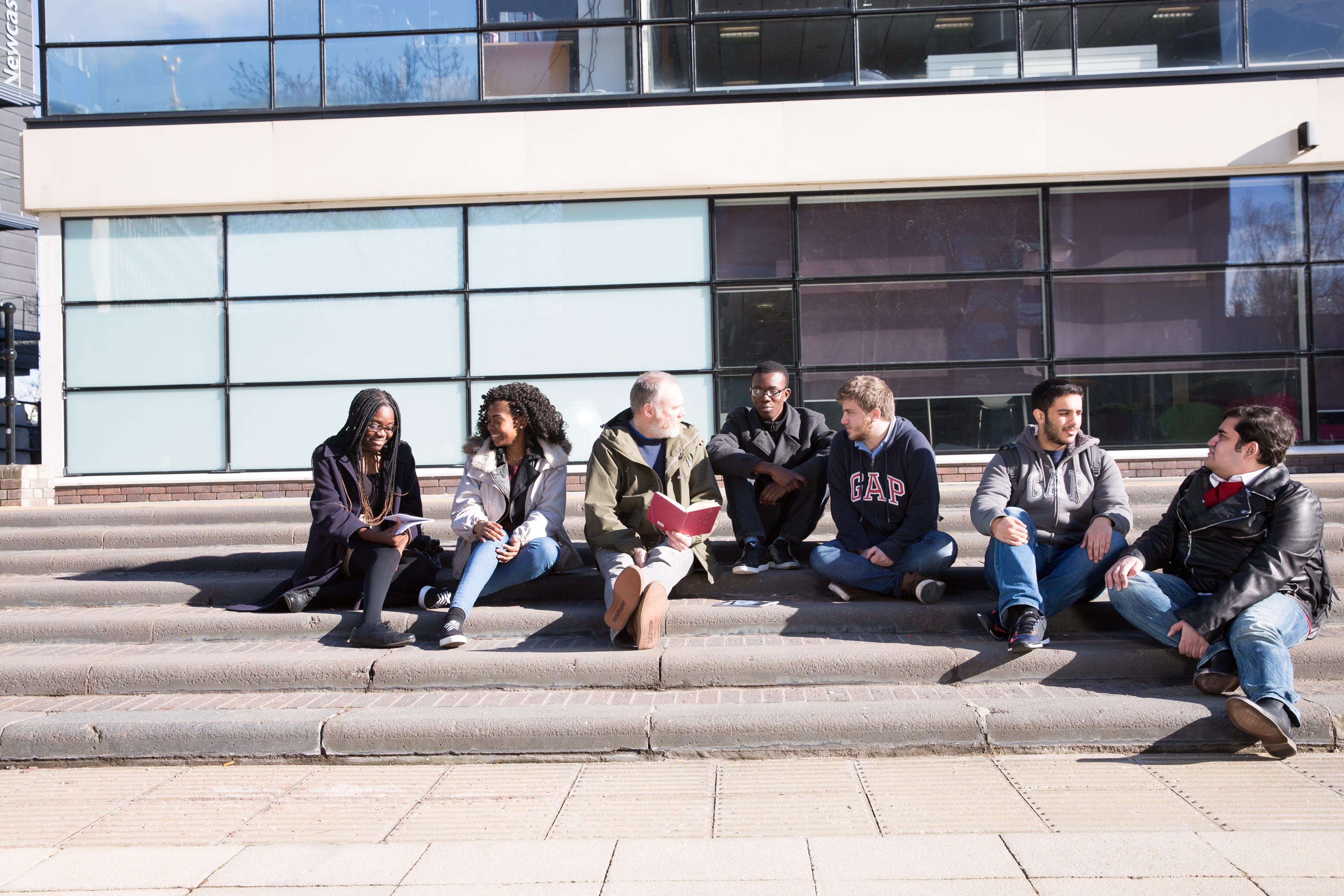 Students at Northumbria University Pathway