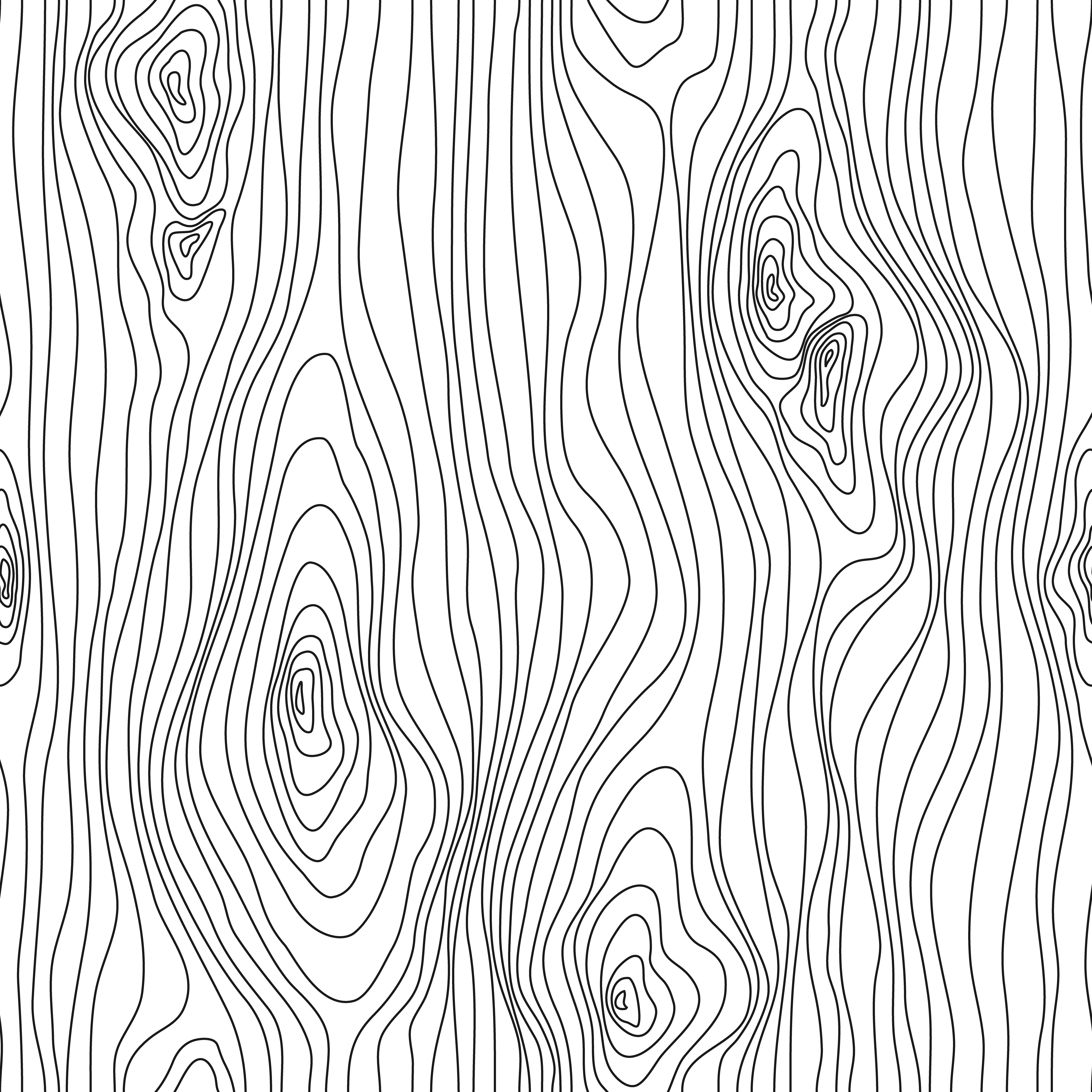 Wood Texture Seamless Sketch. Grain cover surface. Wooden fibers. Vector background