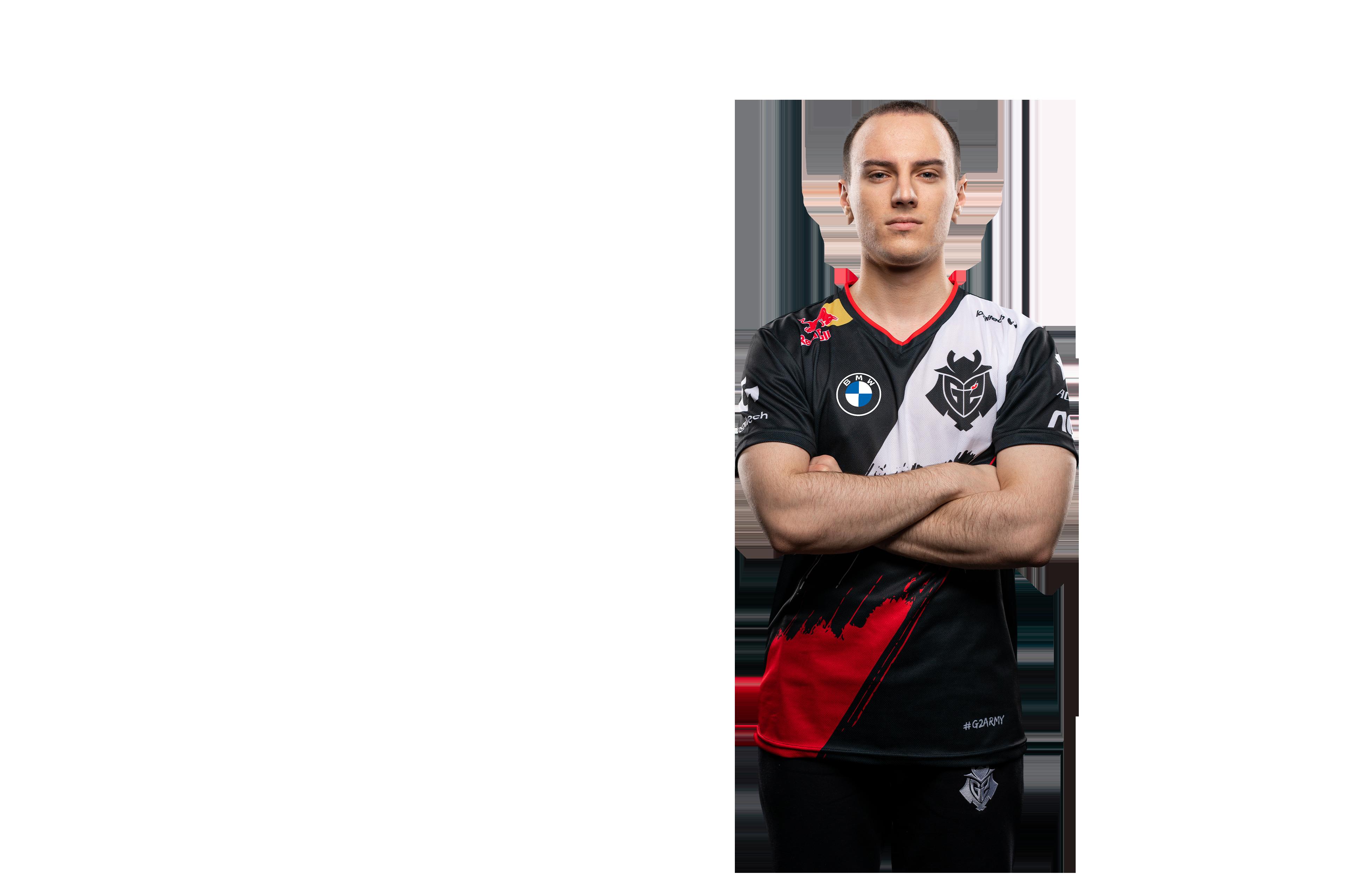 A headshot of G2 Esports League of Legends player Perkz