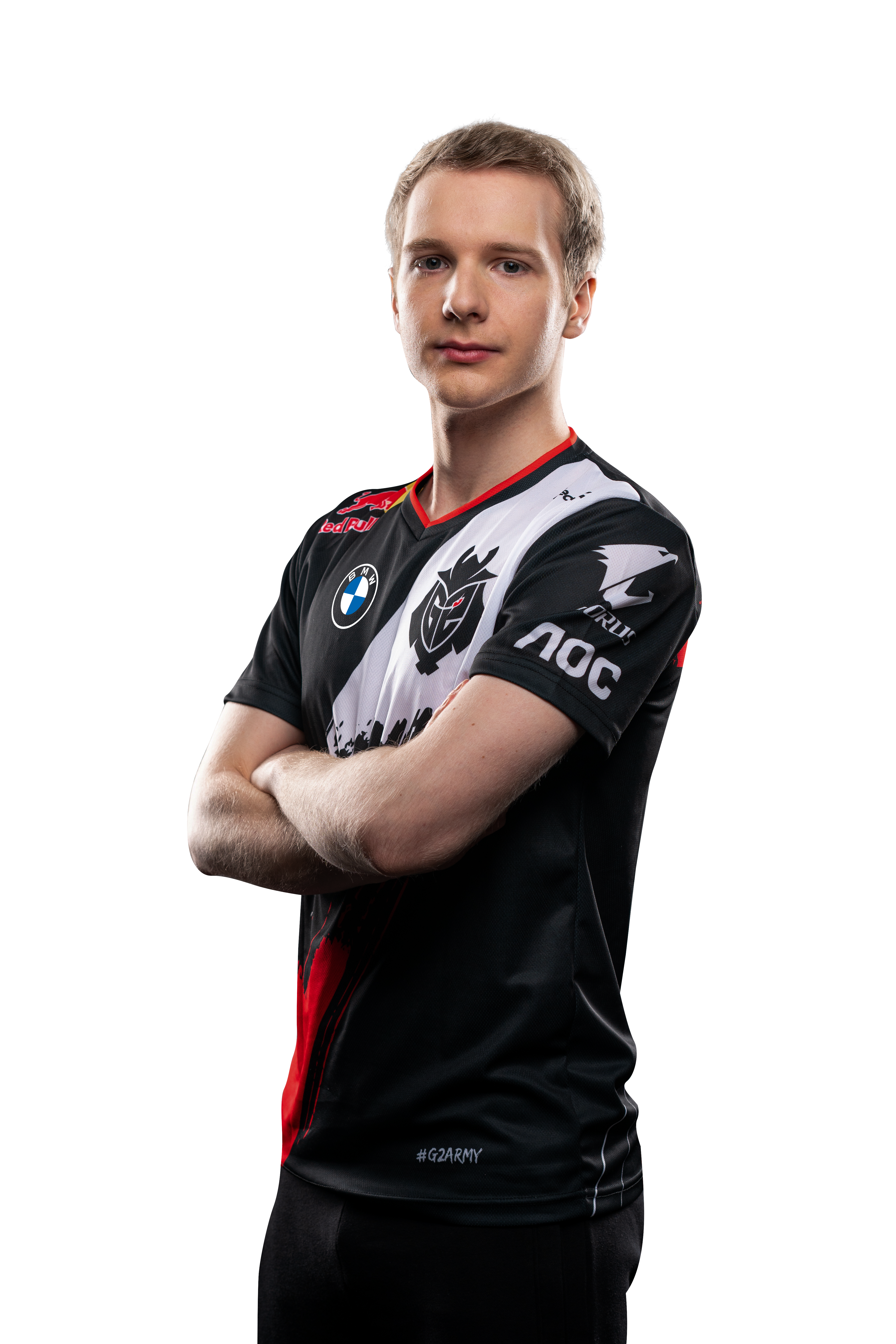 G2 Esports star Jankos poses with his arms crossed