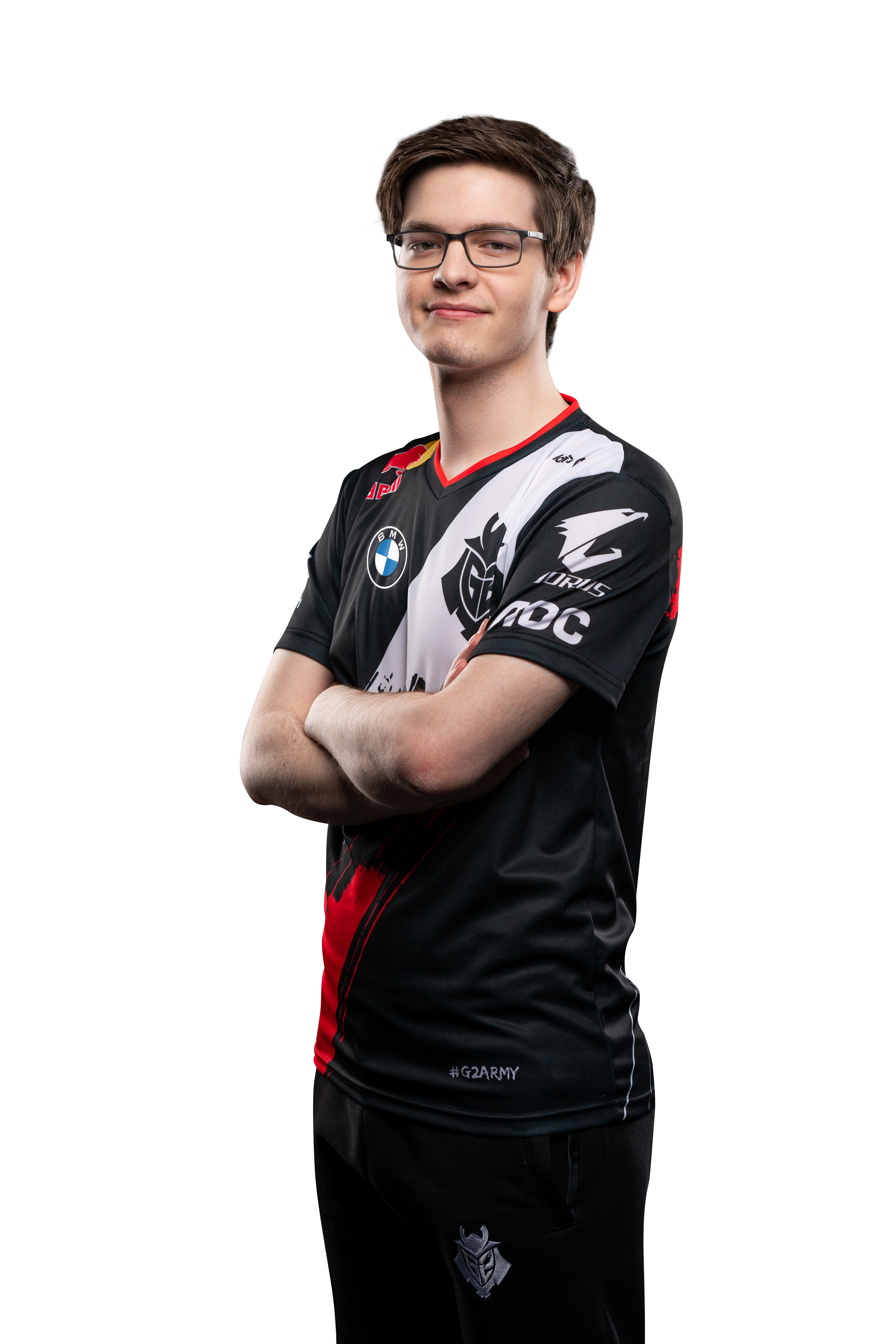 G2 Esports star Mikyx poses with his arms crossed