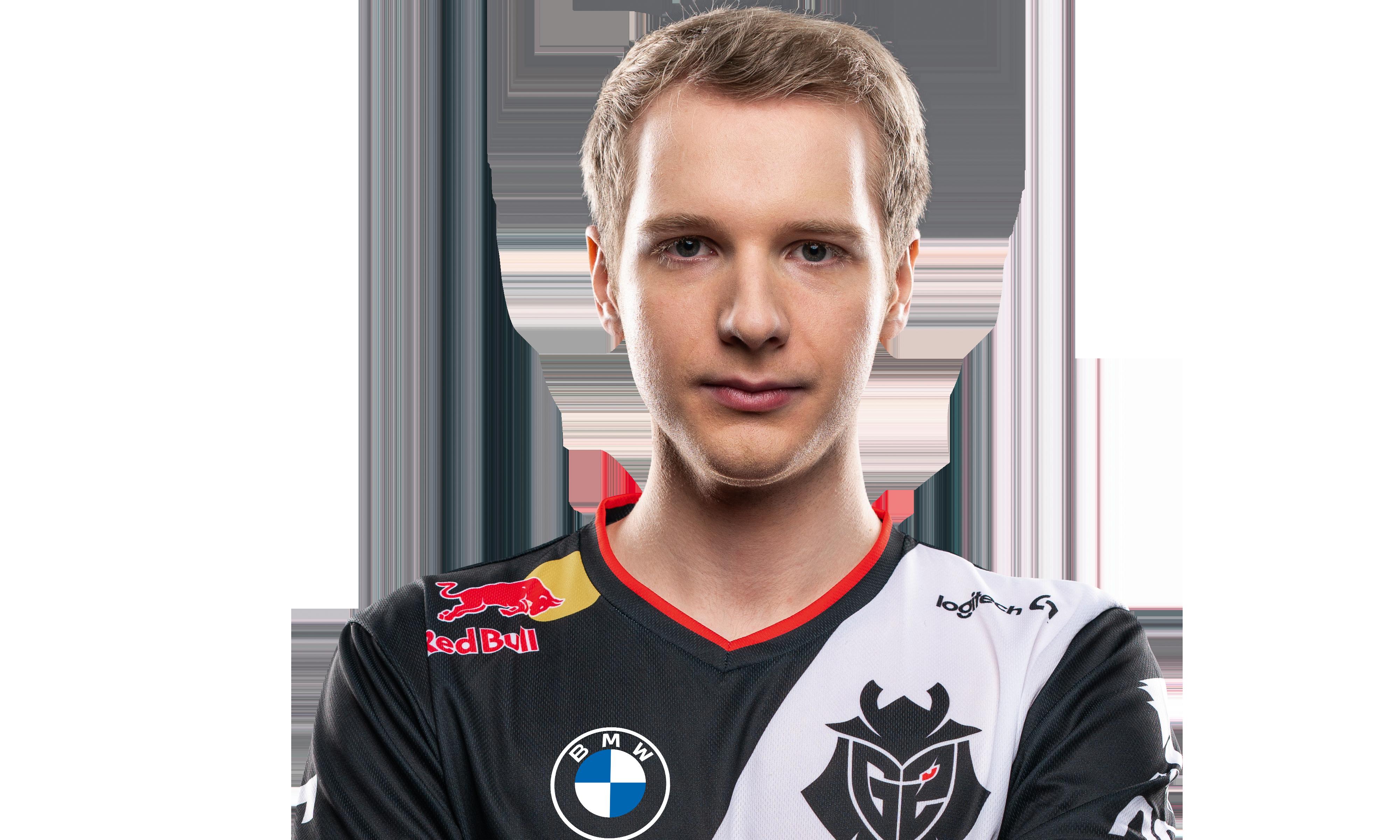 A headshot of G2 Esports League of Legends player Jankos