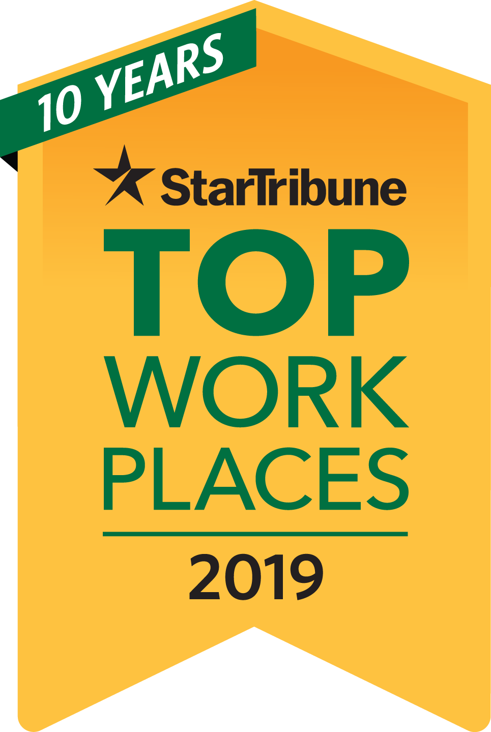 Star Tribune's Top work places 2019 icon