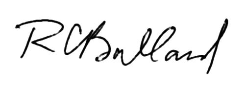 Robert Ballard signature