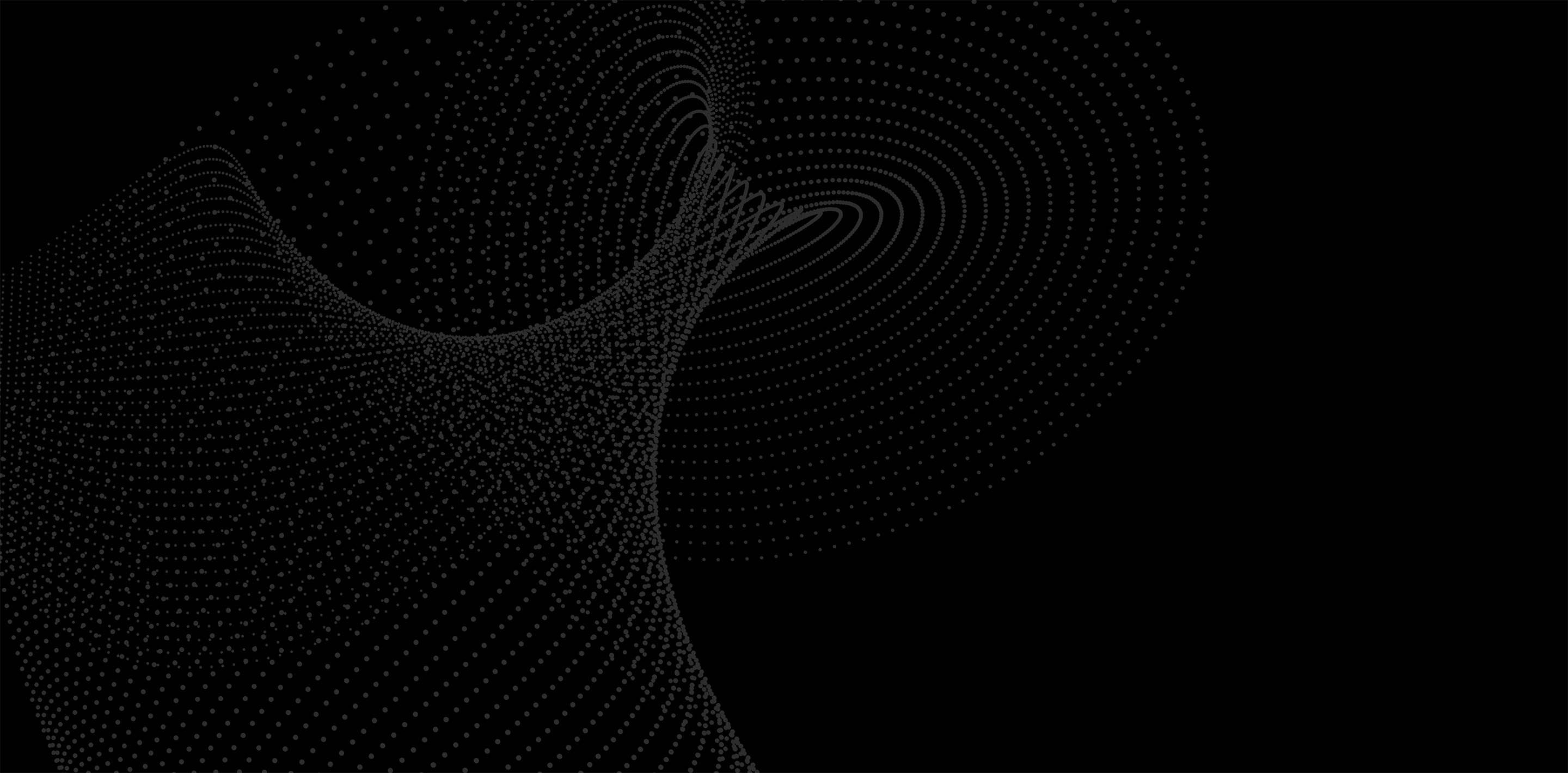 decorative background of a series of dots that together give the gestalt impression of an ocean wave...of data