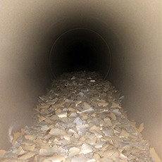 Clean metal ducts that were once filled with construction debris and other buildup