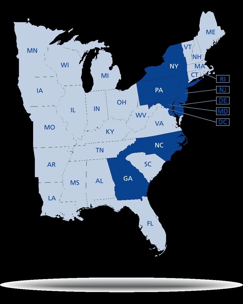 Custom Publishing Reach Map