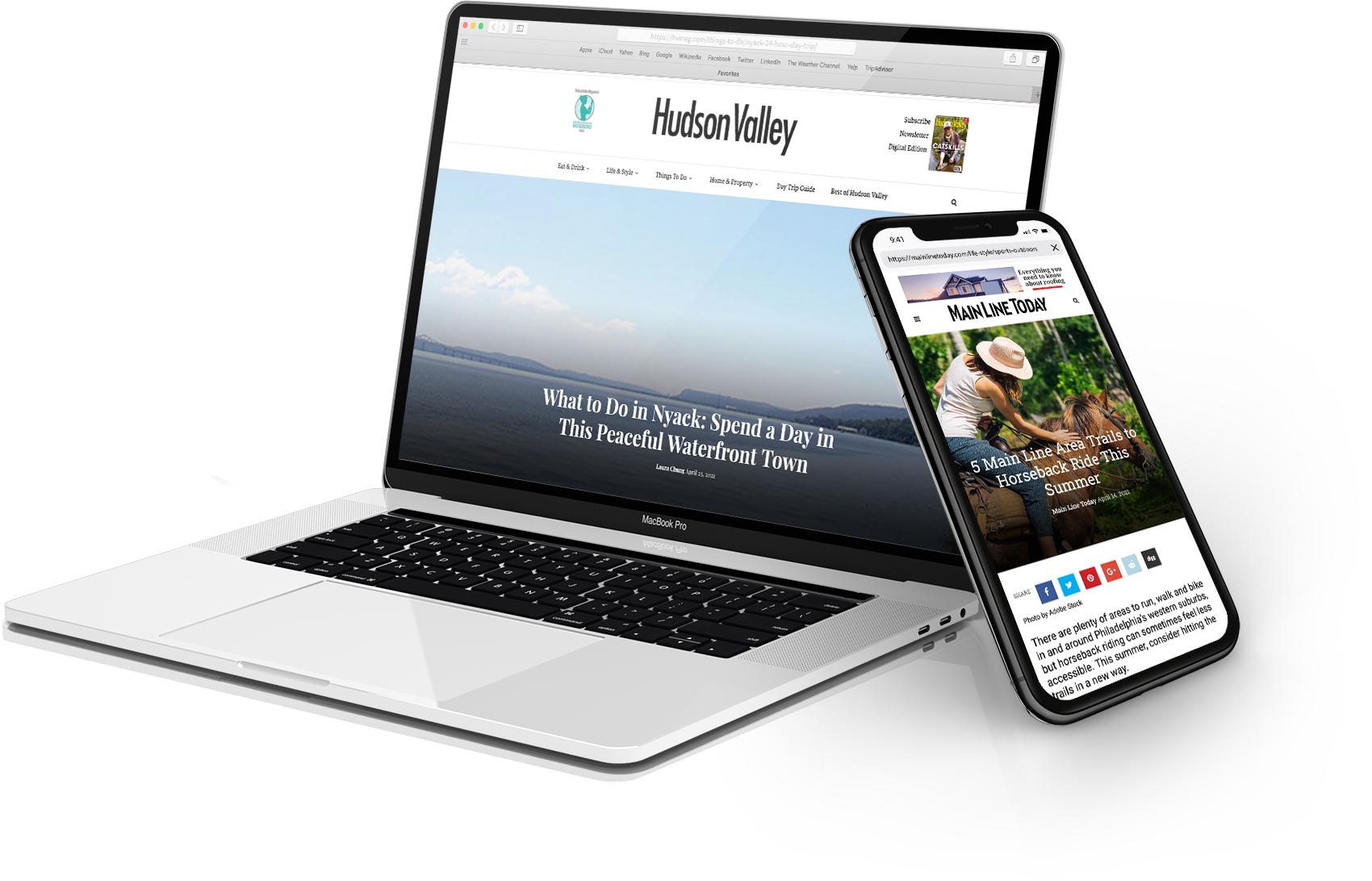 Hudson Valley & Main Line Today Websites