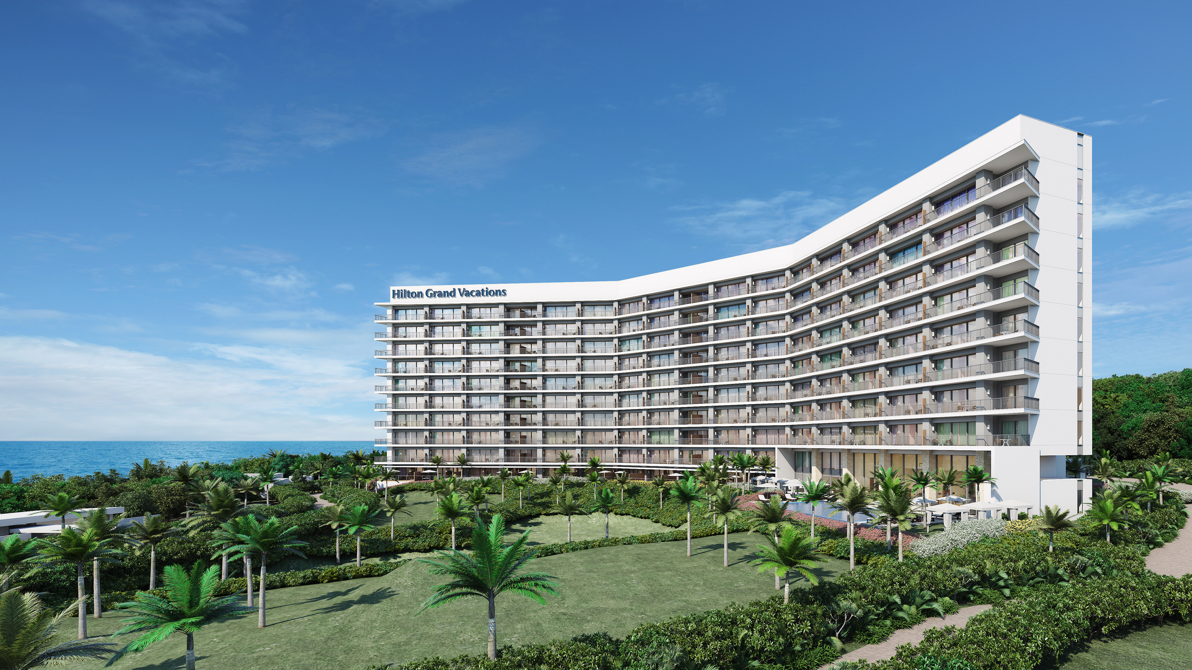 The Beach Resort Sesoko by Hilton Club opening in 2022 on the white-sand beaches of Okinawa's Sesoko Island.