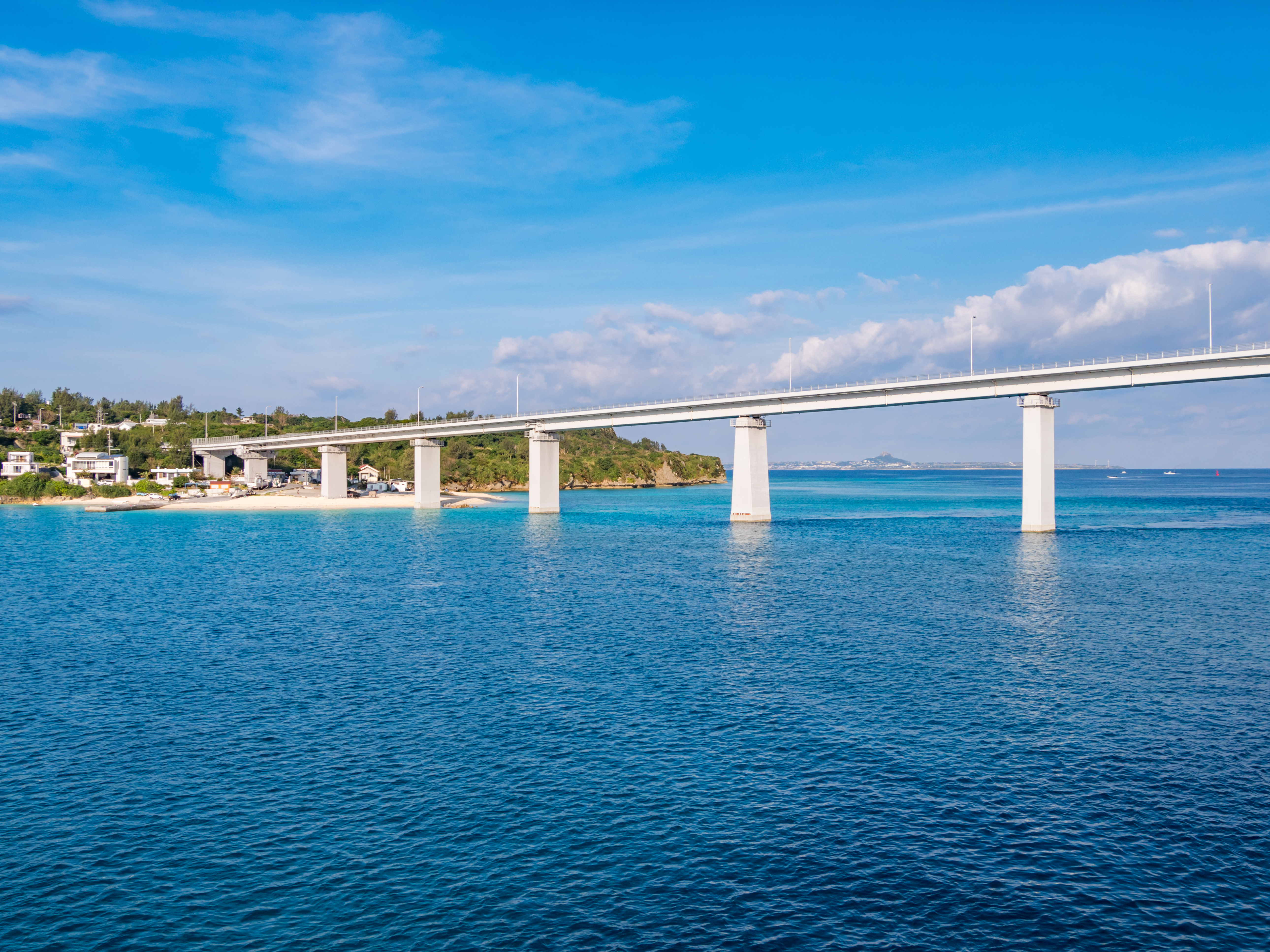 The 700 meter-long bridge from Naha Airport on the way to The Beach Resort Sesoko by Hilton Club