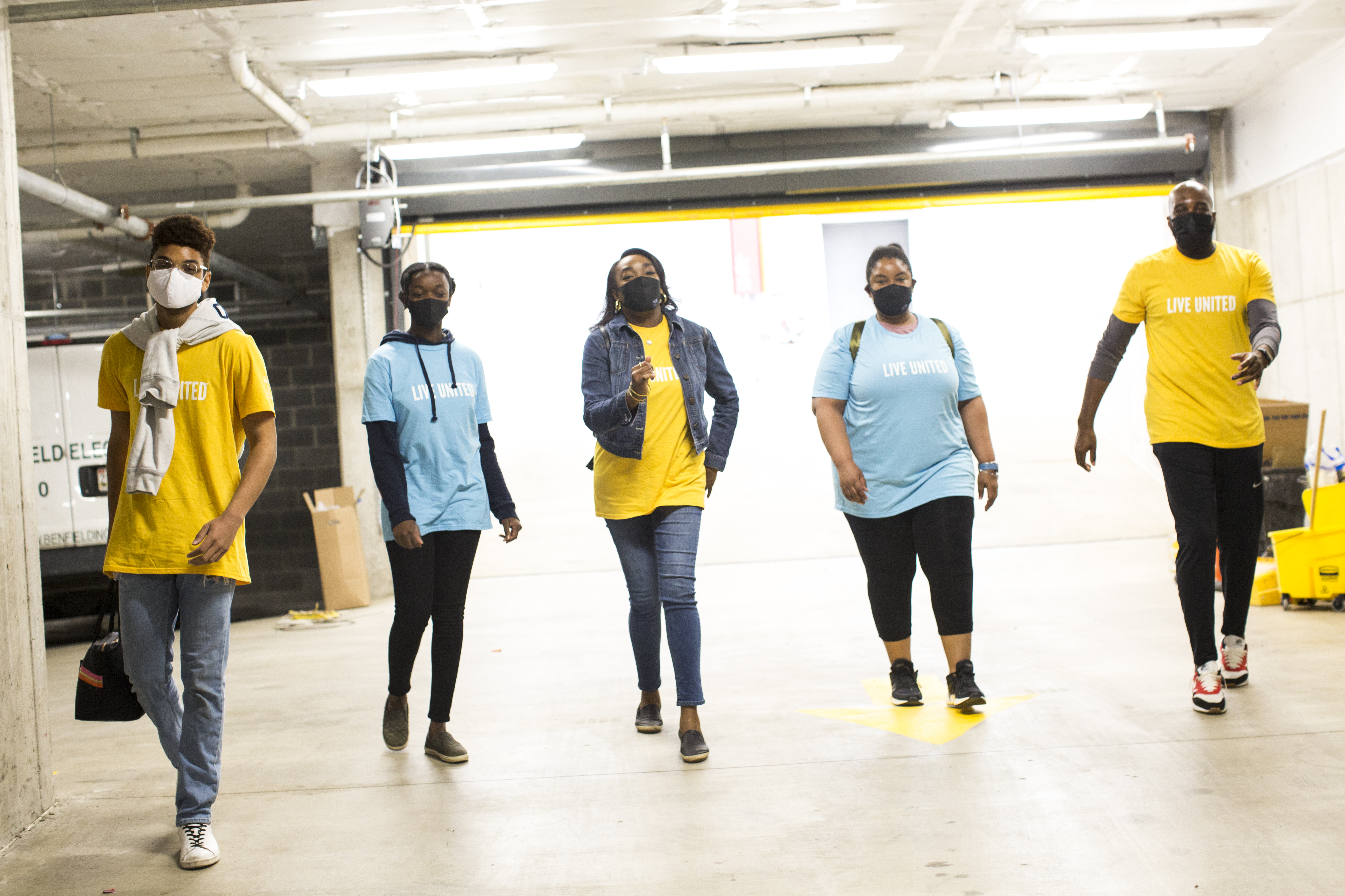 Group of Leaders United volunteers at Way Home event
