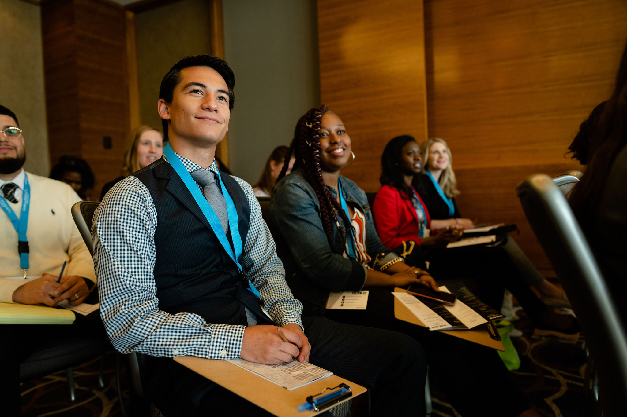Emerging Leaders United members attending  UWCM's Young Professional Conference
