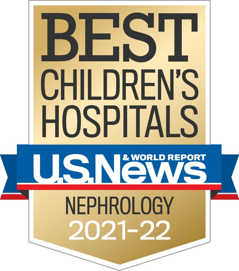 Best Children's Hospital US News and World Report Nephorlogy logo