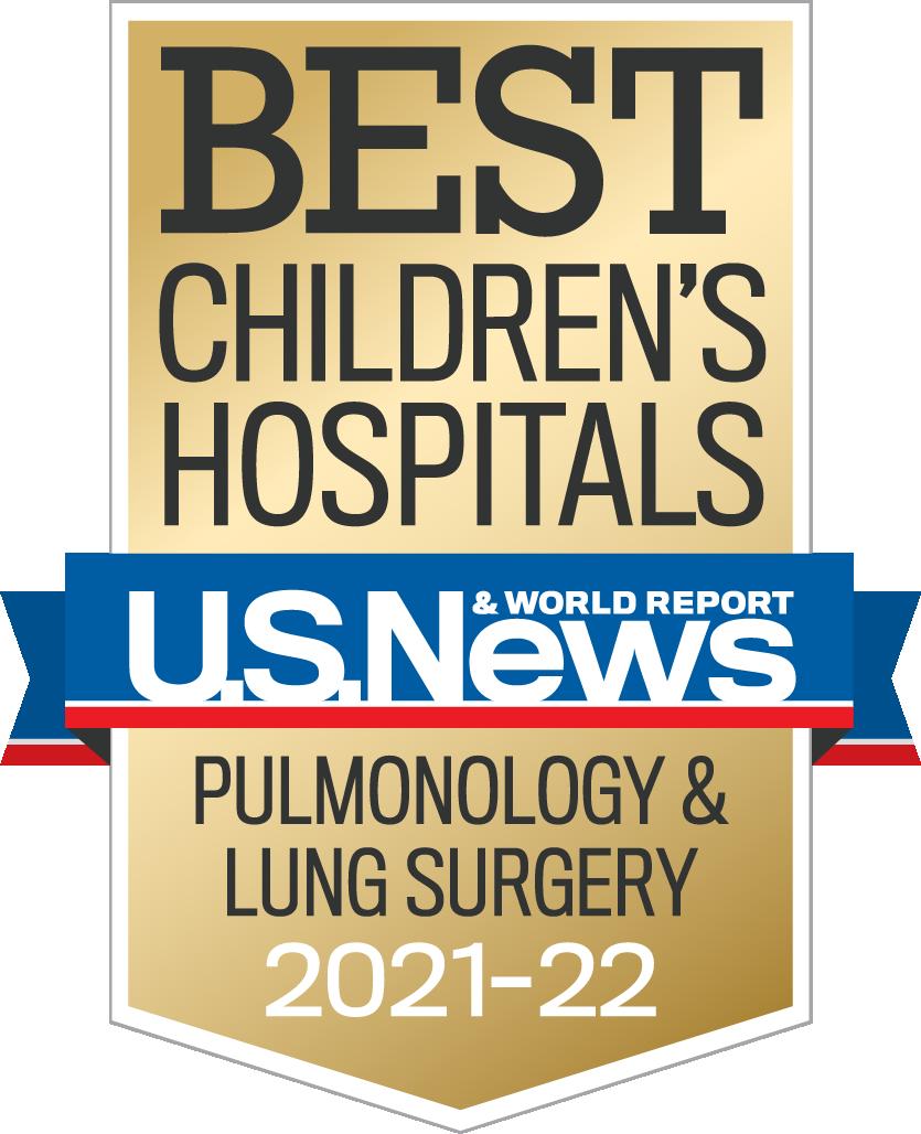 Best Children's Hospital US News and World Report pulmonary logo