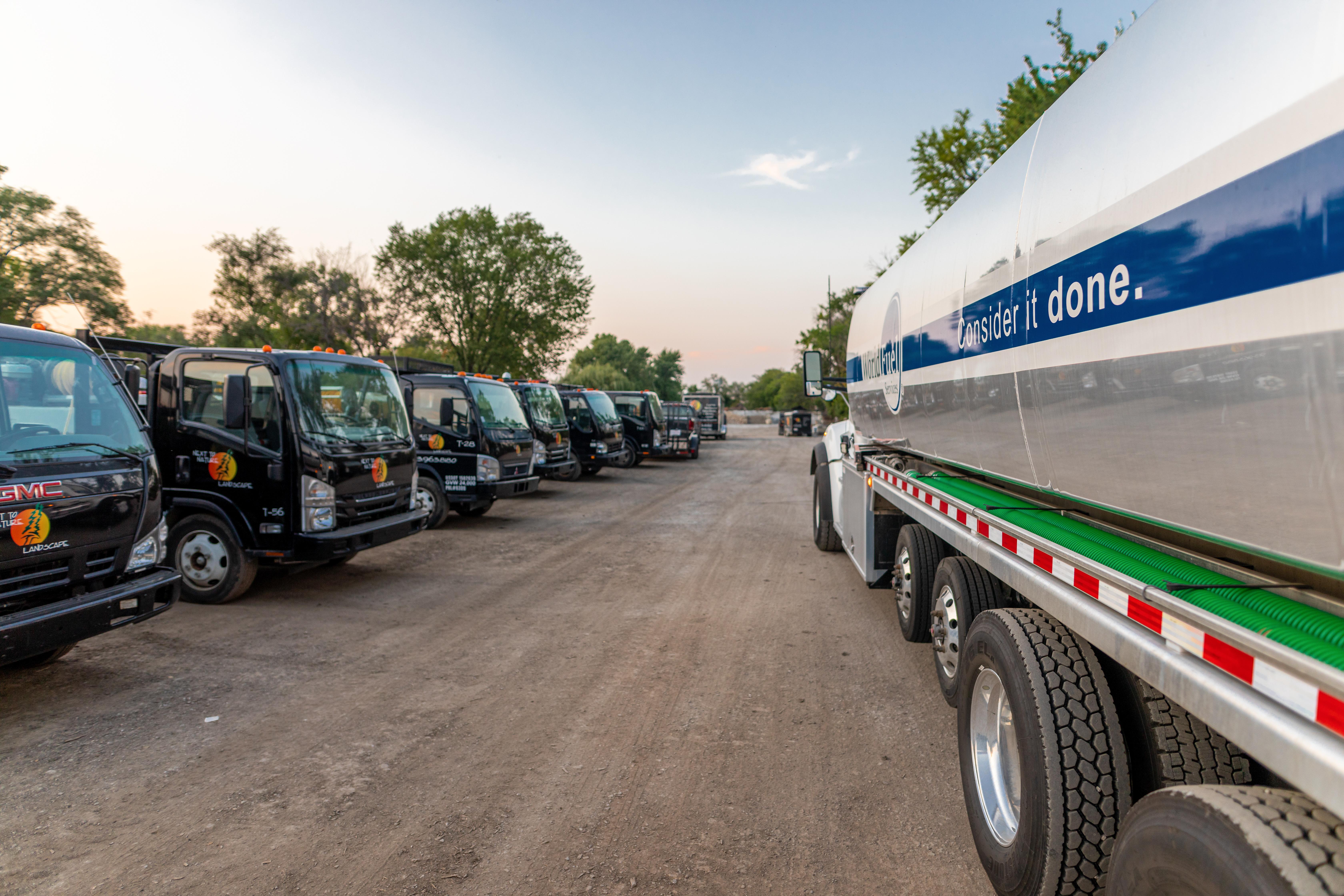fleet fueling truck on site