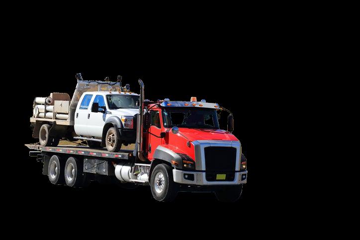 truck hauling truck